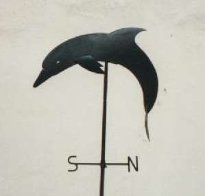 Girouette avec dauphin