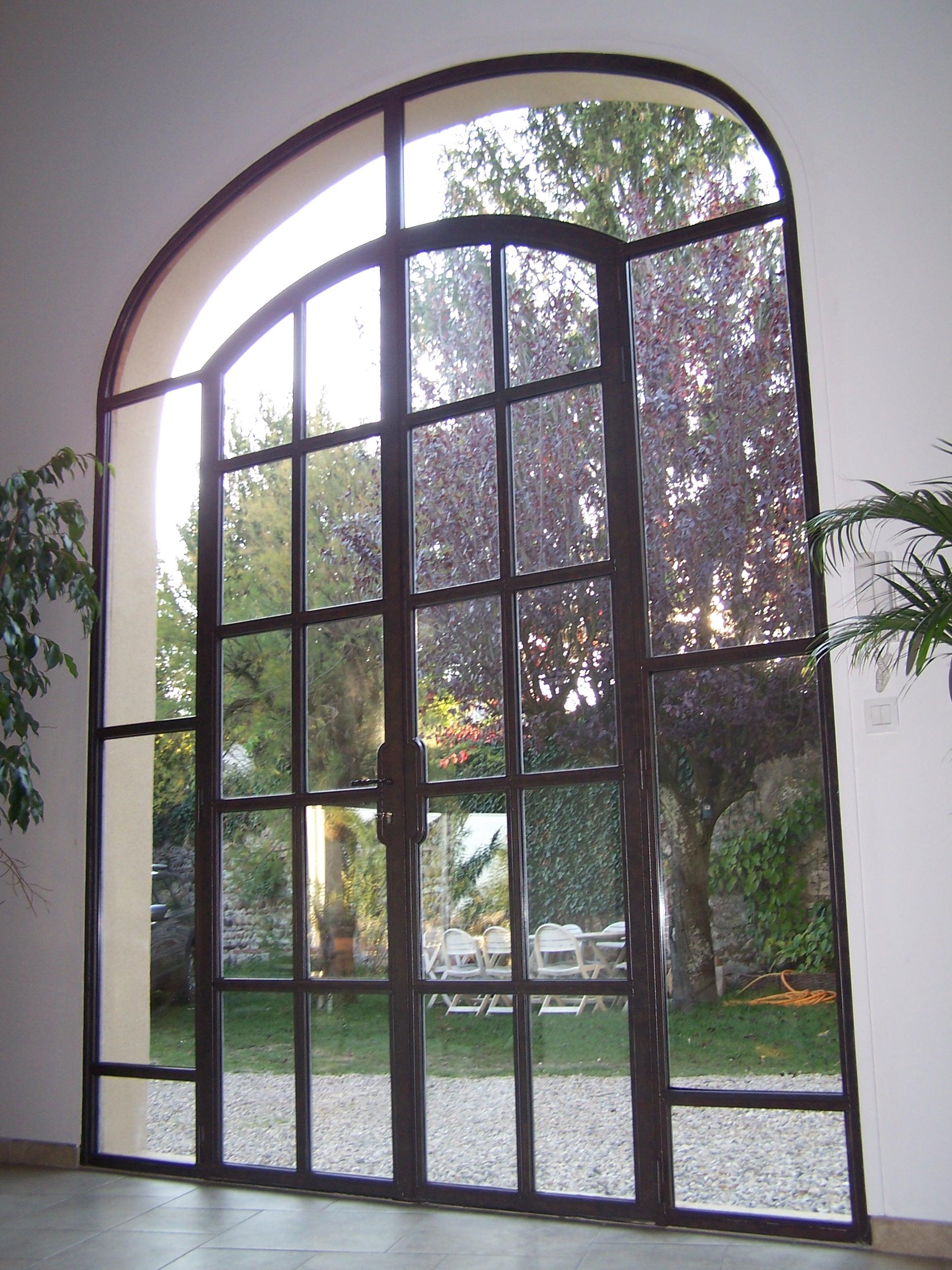 Porte vitrée à l'ancienne