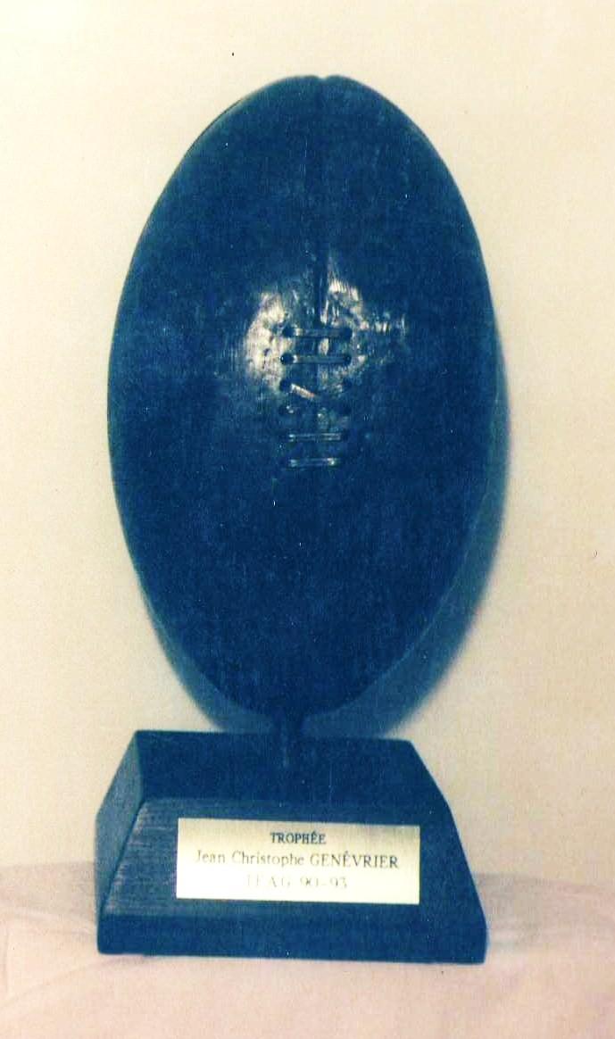 Trophée pour un tournoi de Rugby.  Lyon