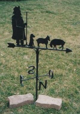 Girouette avec berger et ses bêtes