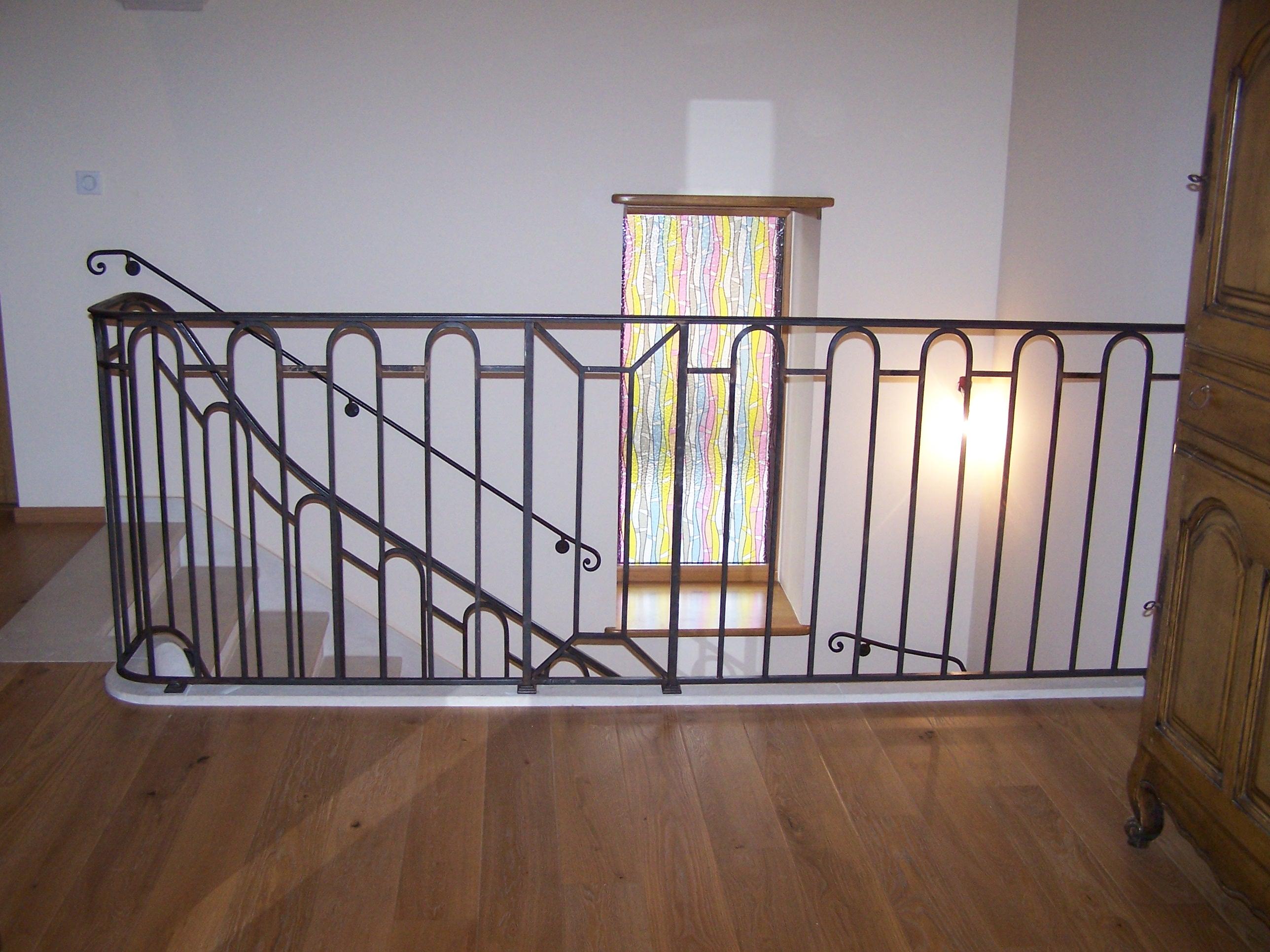 Arrivé sur la trémie de l'escalier